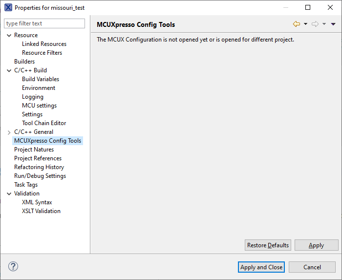 MCT 7.0 project settings are empty.png
