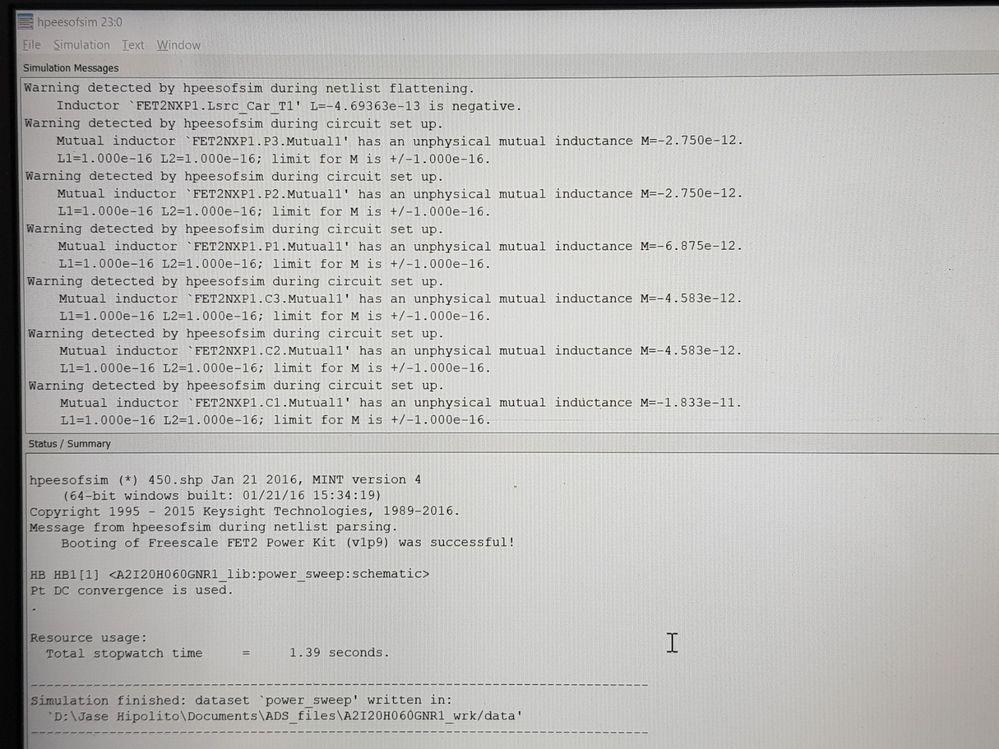 ADS Simulation Error
