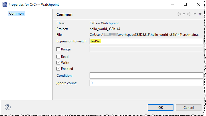 Properties for C C++ Watchpoint.png