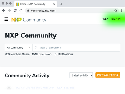 NXP Community - Sign In