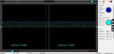 SPI frequency set to 4Mhz.